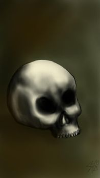Human skull by Subtorch