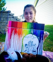 melted crayon art by magnumkiyoshi