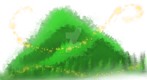 Magical Bush that looks like a Mountain by nightrelic