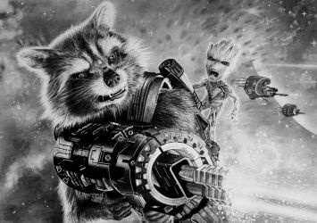 ROCKET and GROOT, Guardians of the Galaxy Vol. 2 by Mim78