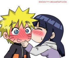 Naruhina chibi kissin by shock777