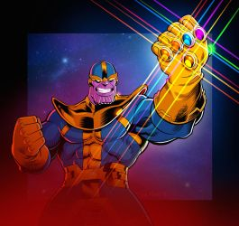 Thanos by TomMartinArt