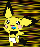 Pichu in Diapers by Baby-Days (Digital) by DanielMania123