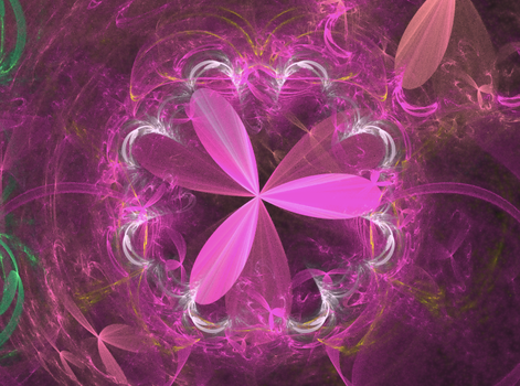 pink floral power fractal by TanithLipsky
