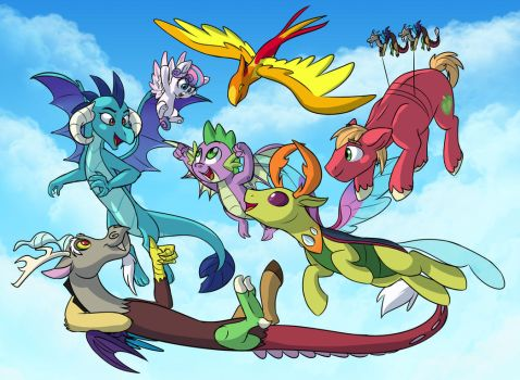 Flying With Friends by Doodle-Mark
