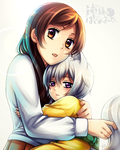 KH: Nanami and little Tomoe by Kay-I