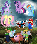 Mario and friends in fairyland by user15432
