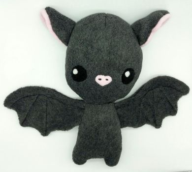 Cute Chibi Bat Plush by Gemlettuce