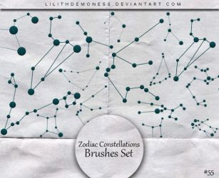 Zodiac Constellations Brushes #55 by LilithDemoness