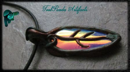 Tealpanda Artifacts - Copper Colorchanging Leaf by TealpandaArtifacts