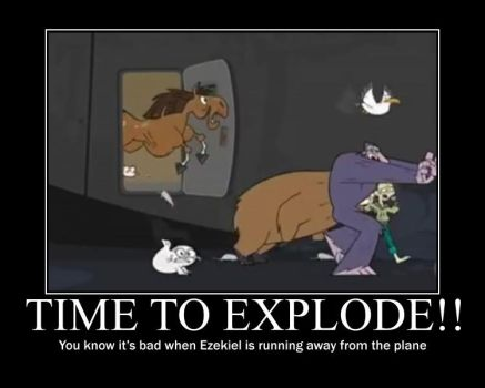 Total Drama Plane Explode by AbominationOfTime