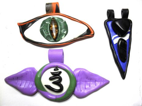 Fimo Pendants 13-15 by kaienne