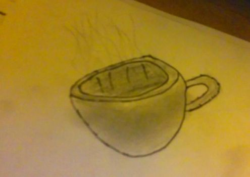 steaming cup by RICKX231