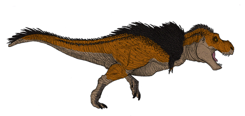 New T. rex (coloured) by TheMorlock