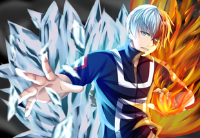Todoroki Shouto + [SpeedPaint] by LuciLorenzo