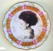 The Modern Lady Portrait Plate by BeatUpCreations