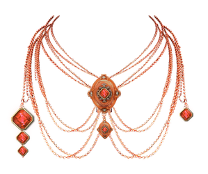 1063 Rose Gold Necklace by Tigers-stock