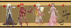 RPG Adoptable Batch [CLOSED] by MissElysium