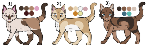 Cat Adoptables - 3/3 OPEN by drawingwolf17