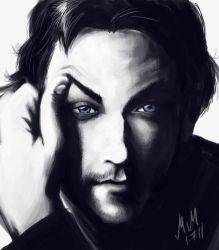 James McAvoy - Blue eyes by kiwii