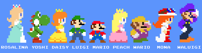 Mario crew 8bits by ZeFrenchM
