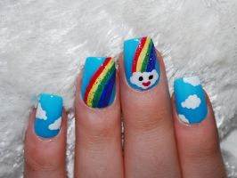 Sky nail art by Maynesss