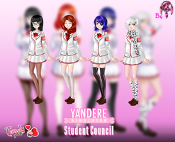 MCL pack- Yandere Simulator (Student Council) by FNAFfanart67