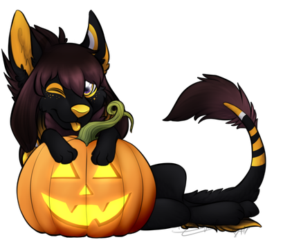 (finished ych) Pumpkin for JackalGiana by LindsayPrower