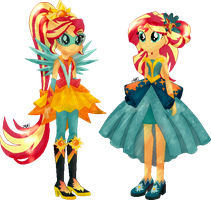 Sunset Shimmer|Everfree|AU EqG by Mairu-Doggy