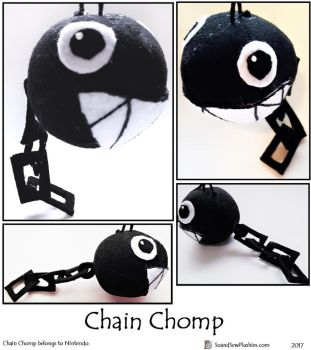 Chain Chomp Dumpling by SoandSewPlushies