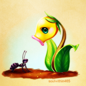 Bellsprout and ant by soulwithin465