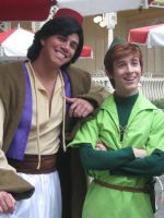 Aladdin and Peter by DisneyLizzi