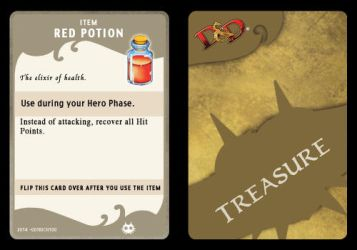 Red Potion (Treasure Card) by 001rich100