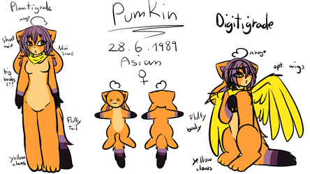 Pumpkin Ref Sheet 2018 by sh1g3k0