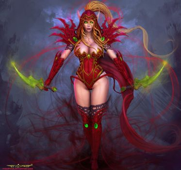 Valeera Sanguinar (Final render) by itzaspace