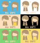 ALL CAPS shirt various colours by NaomiFuller
