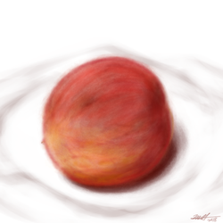 Daily Art Challenge #208: Ripe Peach by SnowCrasher