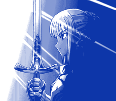 Saber bicolor by exe-q-tor