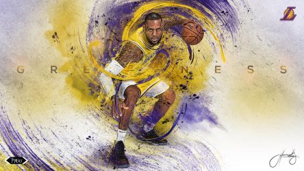 Lebron James L.A. Lakers Greatness Wallpaper by tmaclabi