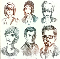 Life is Strange pencil sketches by raikoart
