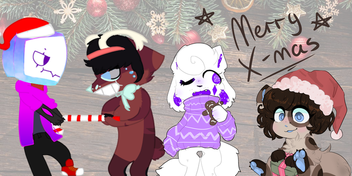 Merry christmas to the youtubers by GalaxyPanda1