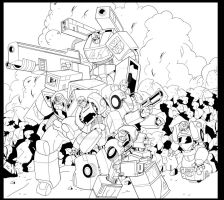 AutoBots Hold The Line by wonderfully-twisted
