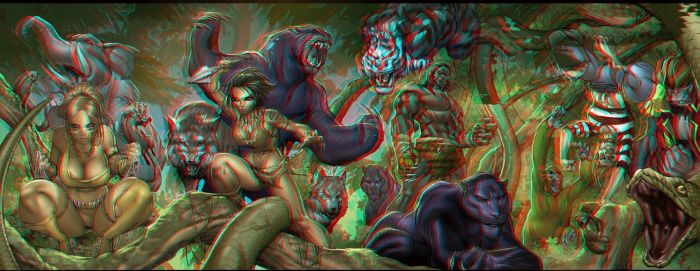 Jungle Book Conversion 3D by Fan2Relief3D