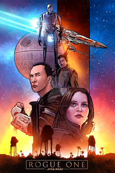 Star Wars Rogue One by sullivanillustration
