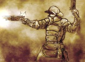 Imperial Stormgunner in Action by zacdac