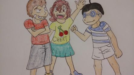 OP: Luca, Cherrie, and Bamba by XfangheartX