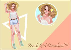 MMD //Beach Girl// Download!!!! (Pls read desc!) by NeatPaperStacks
