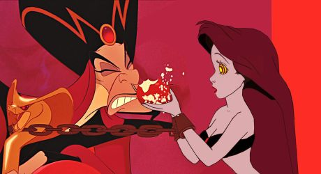 Slave Ariel and Jafar: The Slave Feeds The Usurper by hypnotica2002