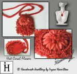 Coral flower necklace by IrynaHamilton