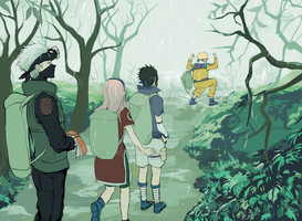 Naruto: Young Team 7 by marcepany